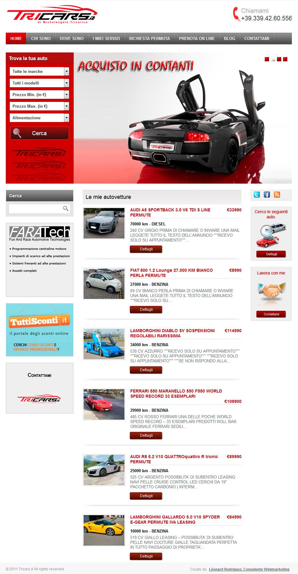Tricars, concessionnaire auto